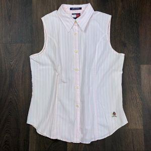 Tommy Hilfiger Striped Shirt 8 Sleeveless Blouse
